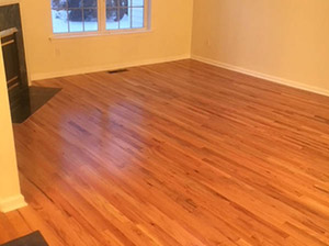 Completed Hardwood Flooring Project - Mullican Natural Oak - Pointe Red - completed by Associated Abbey Carpet & Floor