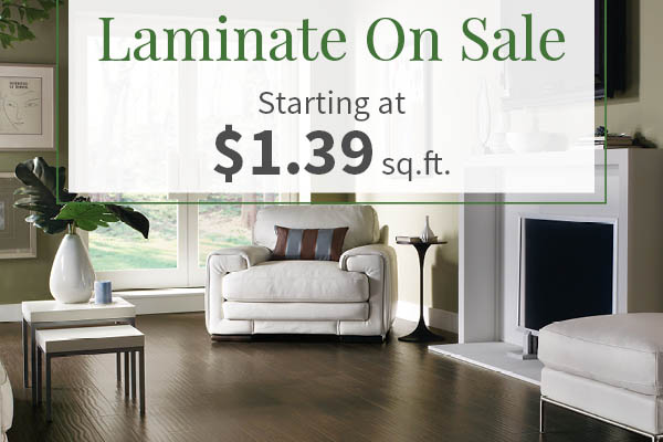 Laminate Flooring On Sale starting at $1.39 sq.ft. at Associated Abbey Carpet & Floor in Wappingers Falls